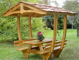 Muebles de madera para jardin comprar en Asunción