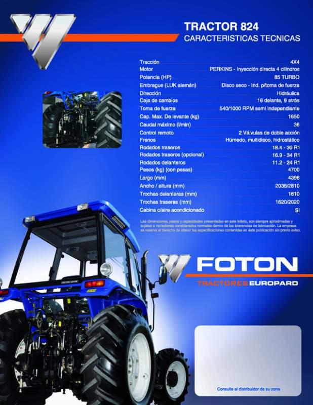 Comprar Tractores 4x4 desde 25HP hasta 145HP