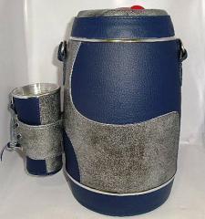 Kit terere azul marino y plateado