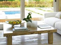 Mesas de madera natural