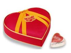 Chocolate estuche de corazon