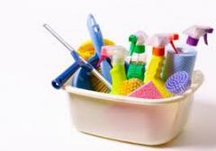 Productos de limpieza diferentes