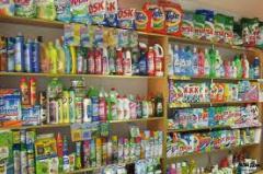 Productos de limpieza varios colores y tipos