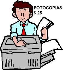 Servicios de fotocopias
