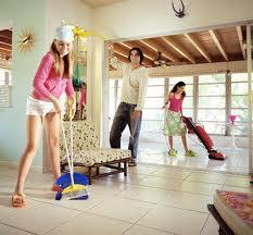 Limpieza de la casa