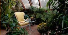 Decoración de jardines de invierno