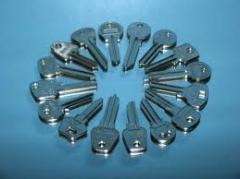 Fabricación de llaves varios modelos